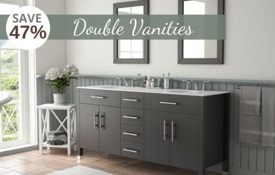 Large Bathroom Vanities & Double Vanity