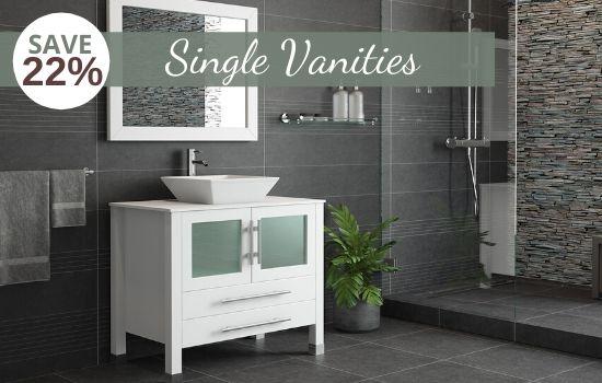 Small Bathroom Vanities & Single Vanity