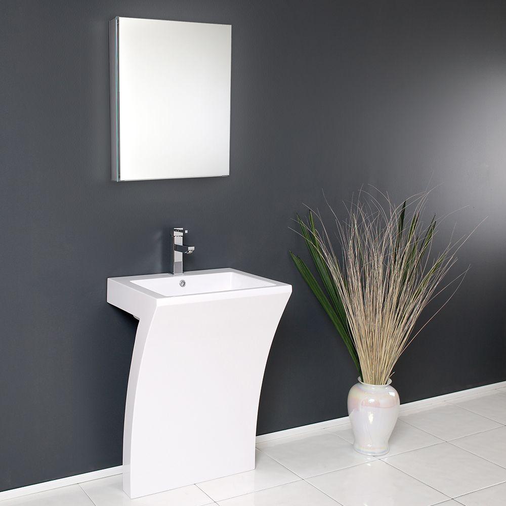 A Modern Living Room, 23 Pedestal Sink Medicine Cabinet Fresca
