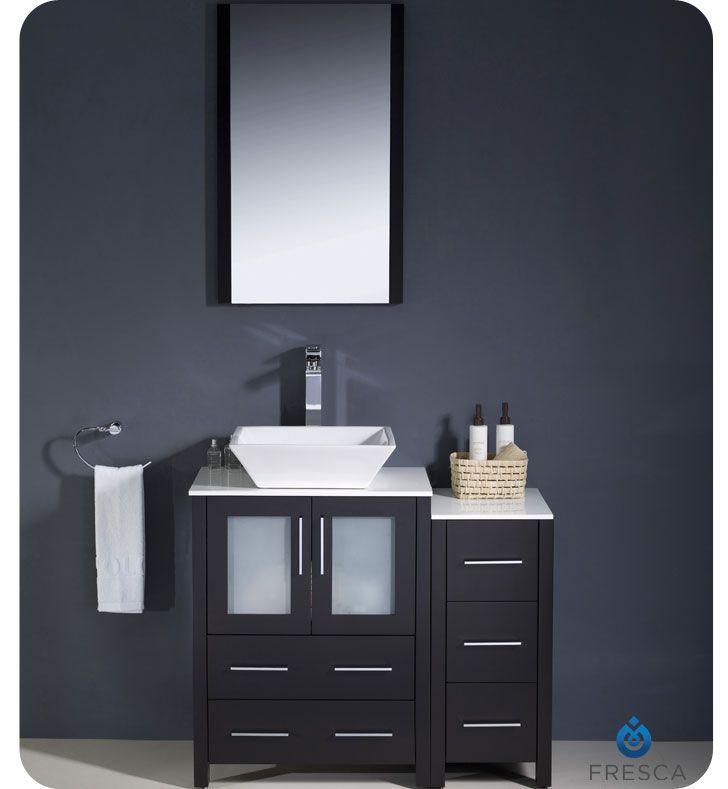 36 Espresso Bathroom Vanity Fresca, 18 Inch Bathroom Vanity With Vessel Sink