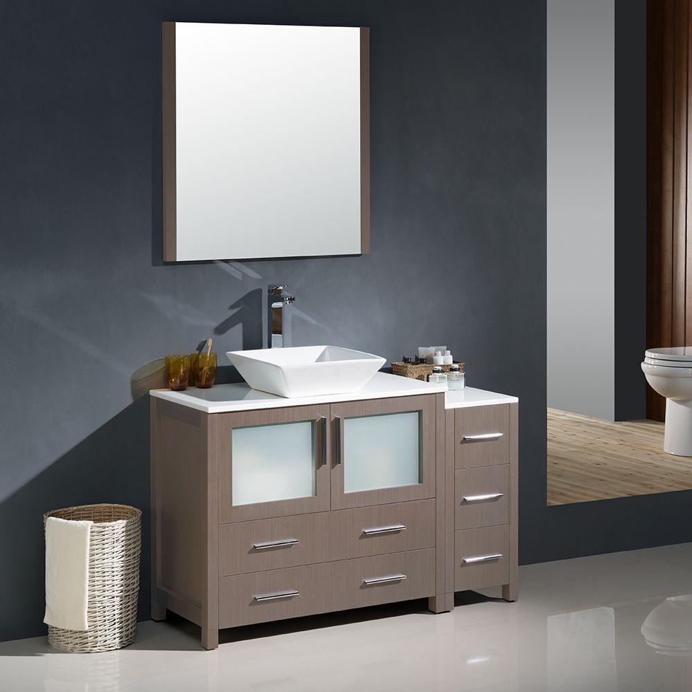 48 Gray Oak Torino Vanity Vessel Sink