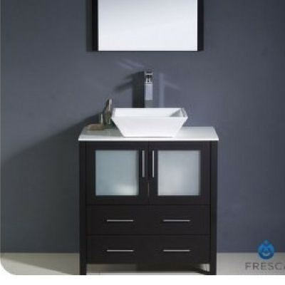 30 Modern Vanity Vessel Sink Espresso Fresca Torino Fvn6230es Vsl
