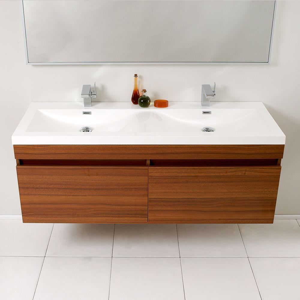 56 5 8 Teak One Sink Two Faucet Wallmount Vanity Fvn8040tk