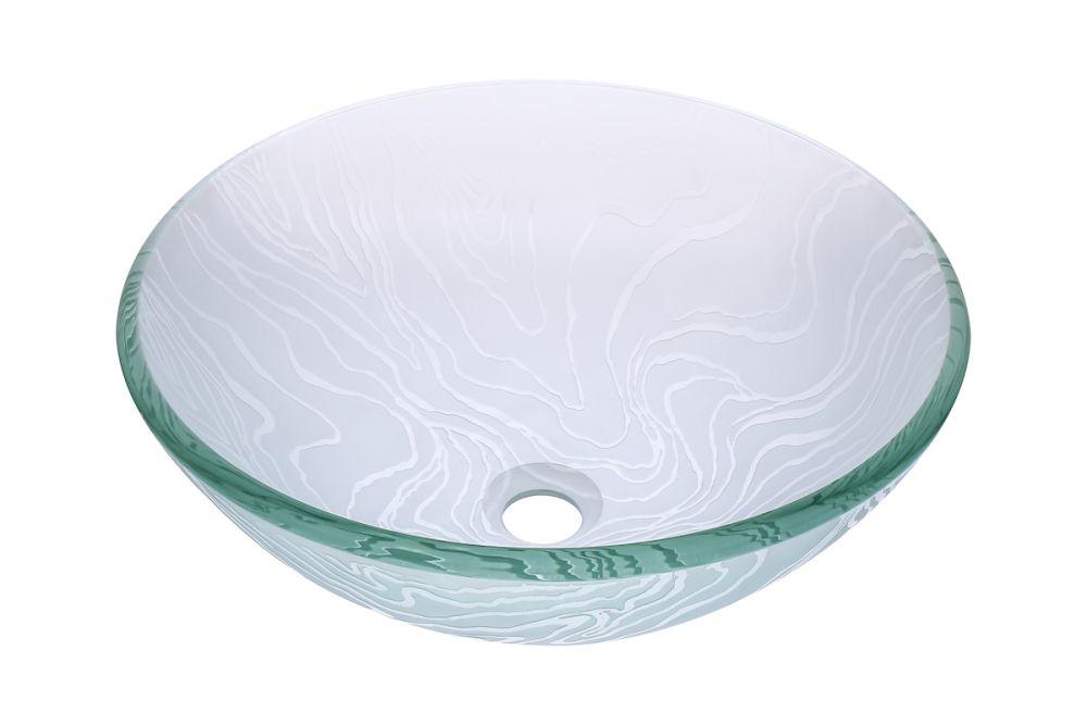 Glass Vessel Bathroom Sink Set Brushed, Green Glass Vessel Bathroom Sinks
