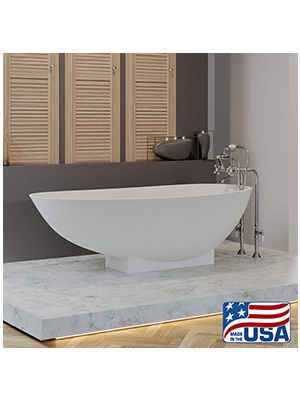Cultured Marble Tub w/Freestanding Telephone Faucet 04