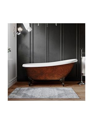 Acrylic Clawfoot Slipper Tub with Copper Bronze Finish 06