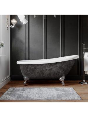Acrylic Slipper Tub Scorched Platinum Finish Miller 04