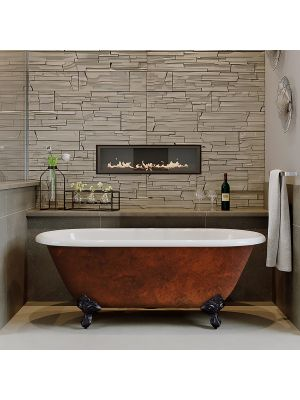 60 inch Cast Iron Dual Ended Clawfoot Tub - Copper Franklin (NH)