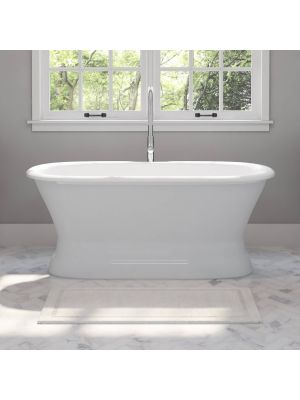 Dual Ended Cast Iron Bathtub w/Faucet Package 01