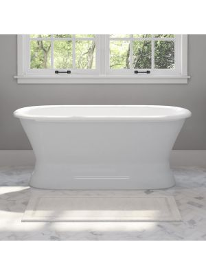 59 inch Cast Iron Pedestal Tub With No Faucet Holes - Polk 01