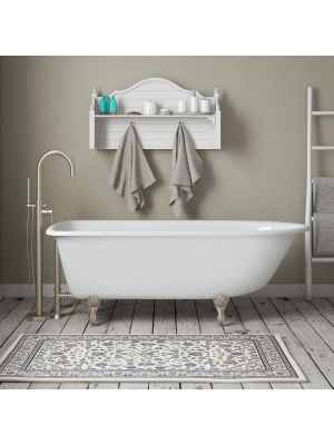 Rolled Rim Cast Iron Tub Camden & Brushed Nickel Freestanding Faucet Pkg 02