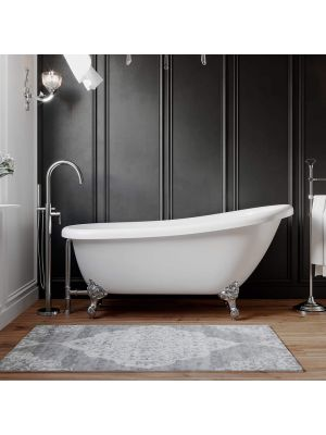 61 Inch Acrylic Slipper Tub & Choice of Standing Plumbing Pkgs - Maries 01