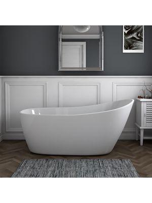 61 Inch Acrylic Slipper Freestanding Bathtub