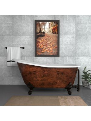 61 inch Cast Iron Slipper Tub Copper Chariton