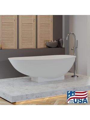 Cultured Marble Pedestal Tub w/Tower Faucet Pkg Jefferson 01