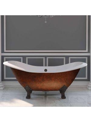 72 inch Cast Iron Double Slipper Clawfoot tub - Copper Buchanan