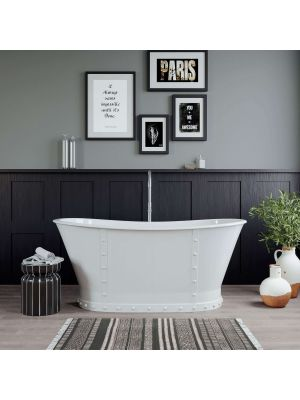 Cast Iron Pedestal Dual Ended Slipper Skirted Bathtub w/Faucet Package 01