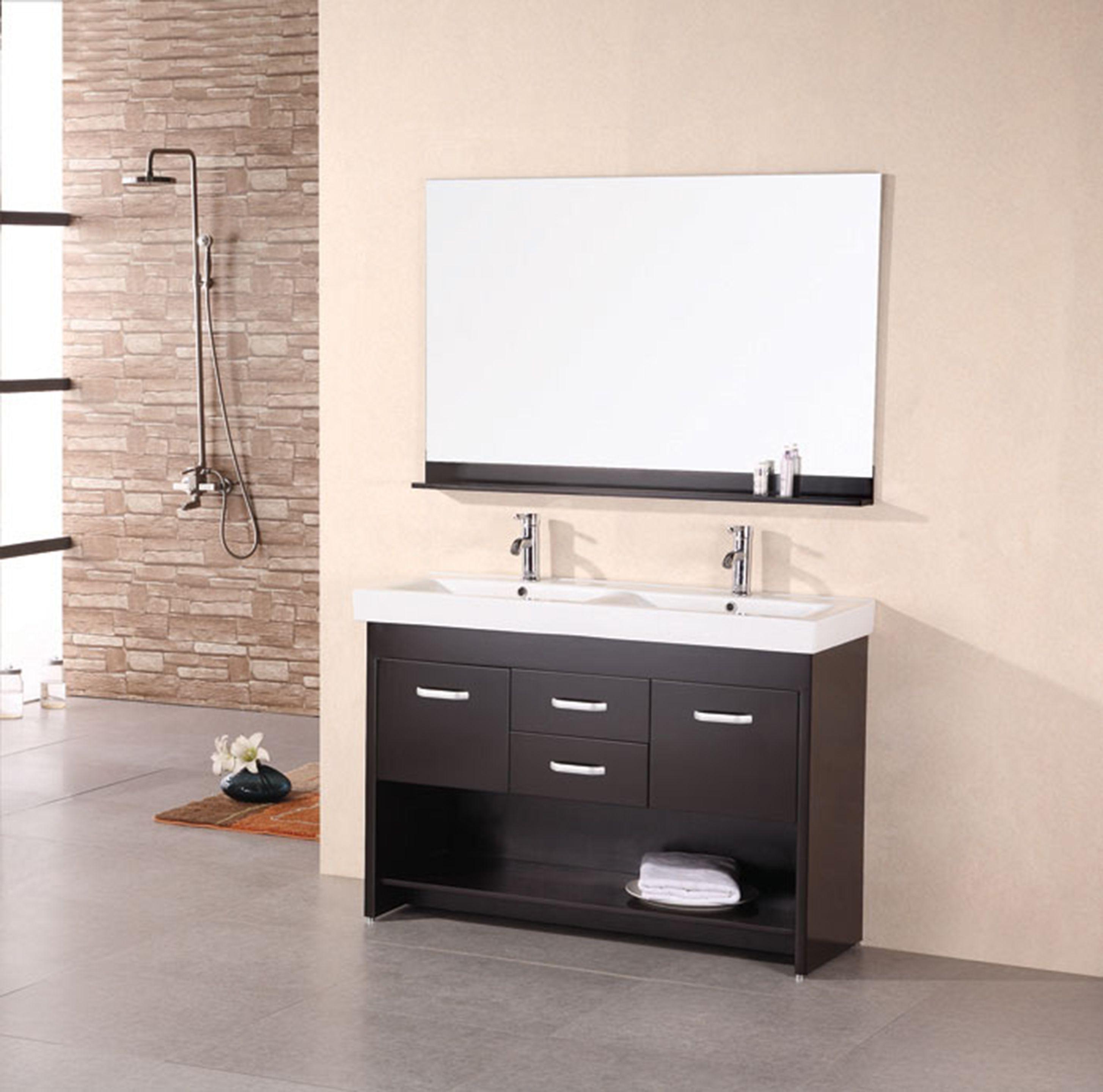48 Double Sink Vanity Set In Espresso Dec074 Citrus