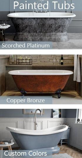 Painted Bathtubs - Painted Clawfoot Tubs & Painted Freestanding Bathtubs