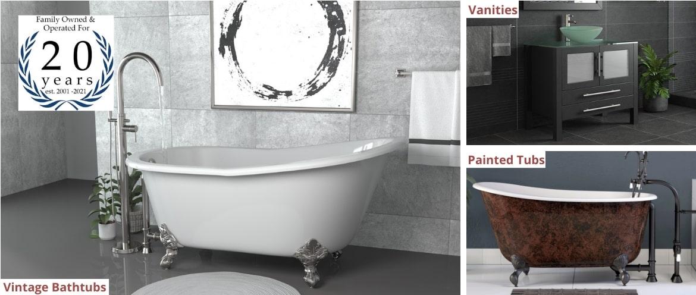 Clawfoot Bathtubs, Painted Tubs & Bathroom Vanities